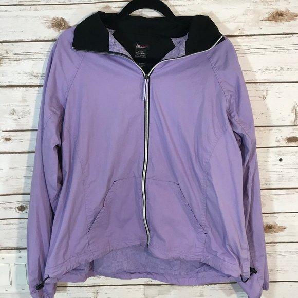 Saint John's Bay Active Jackets & Blazers - SJB Active Women's Jacket Windbreaker, Purple XL